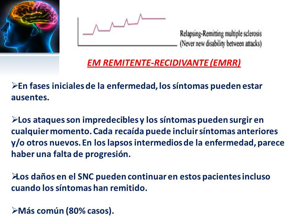 EM PRIMARIA PROGRESIVA (EMPP) Avance crónico desde el principio sin remisión de los síntomas.