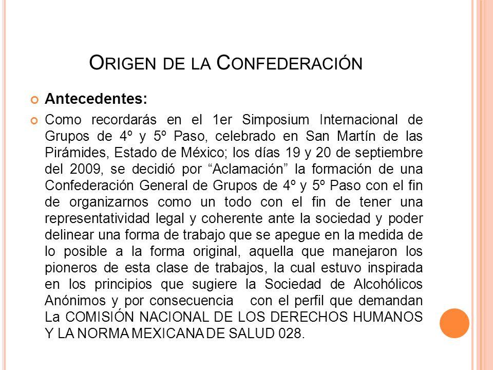 CONFEDERACION DE SERVICIOS GENERALES DE 4° Y 5° PASO G UÍA DE INFORMACIÓN A LOS GRUPOS (MATERIAL PARA EL SERVICIO DE ENLACE) BIENVENIDOS