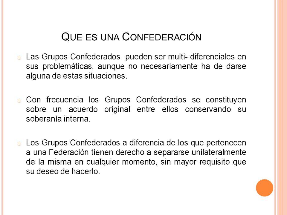 O RIGEN DE LA C ONFEDERACIÓN Antecedentes: Como recordarás en el 1er Simposium Internacional de Grupos de 4º y 5º Paso, celebrado en San Martín de las