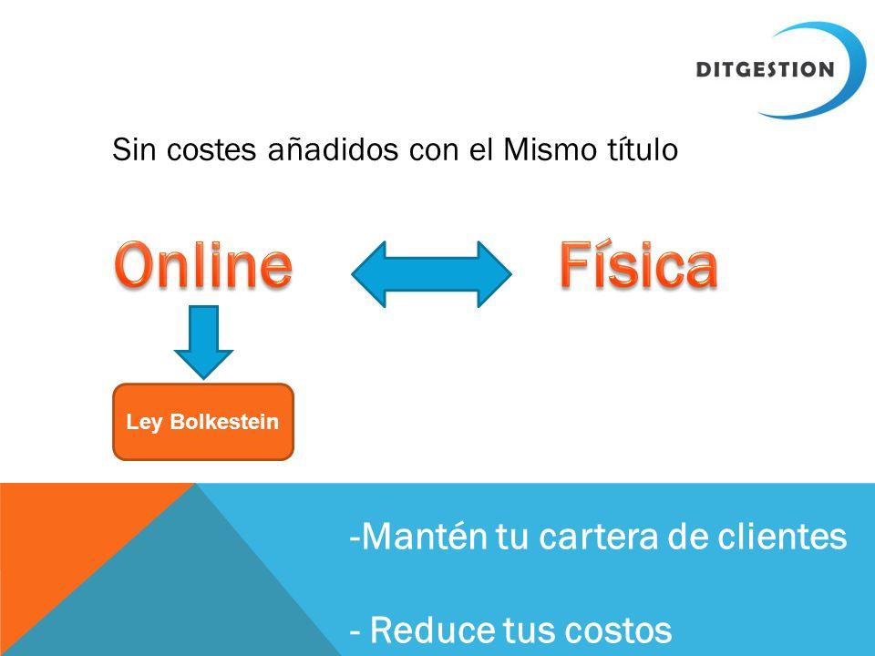 Sin costes añadidos con el Mismo título Ley Bolkestein -Mantén tu cartera de clientes - Reduce tus costos