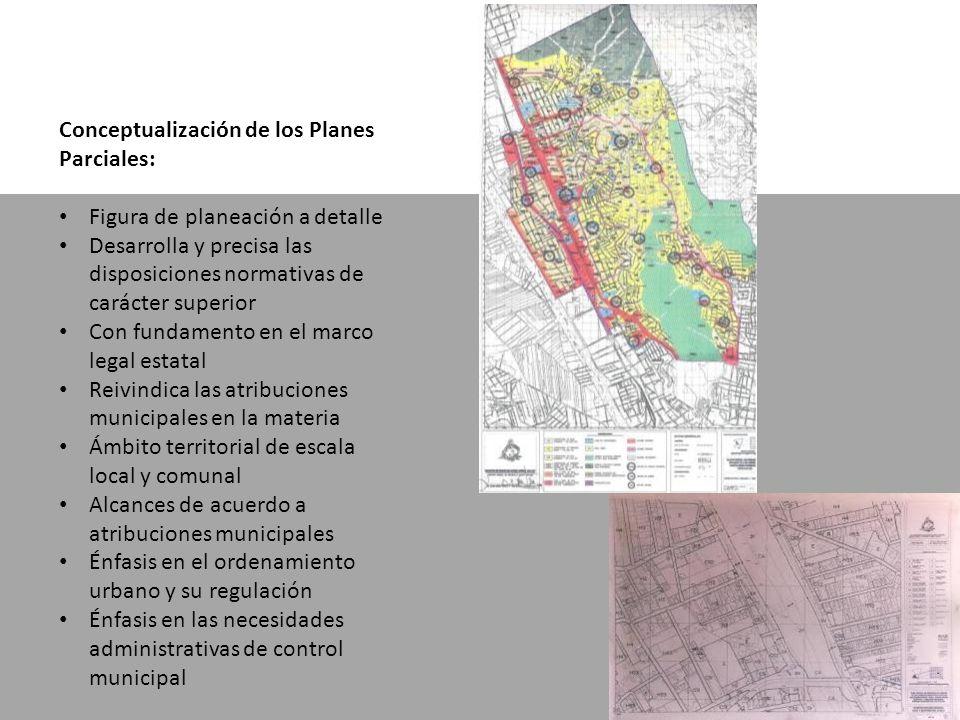 Conceptualización de los Planes Parciales: Figura de planeación a detalle Desarrolla y precisa las disposiciones normativas de carácter superior Con f