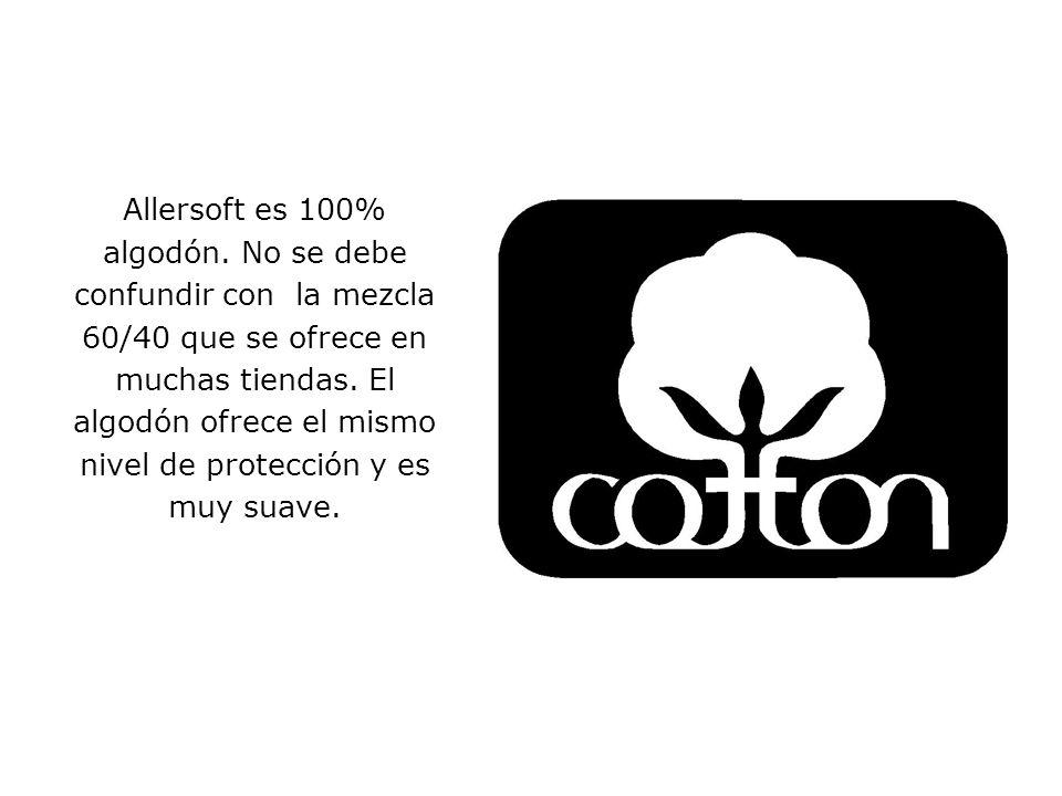 Allersoft es 100% algodón.
