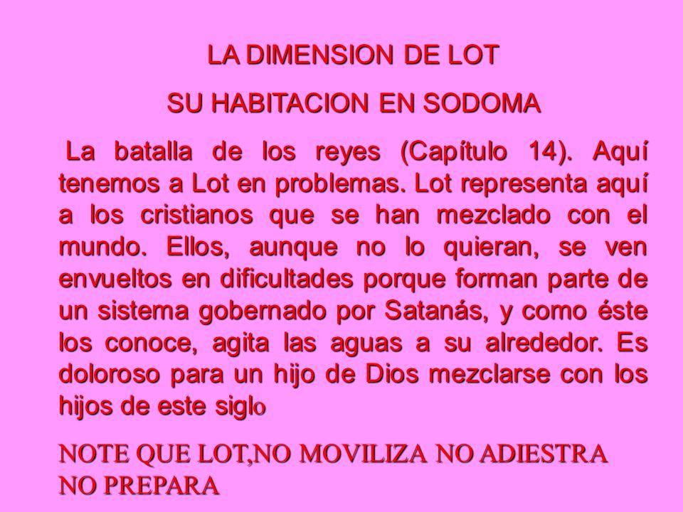 LA DIMENSION DE LOT SU HABITACION EN SODOMA La batalla de los reyes (Capítulo 14).