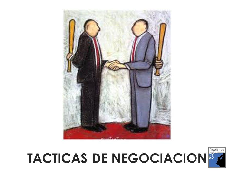 Tácticas de Desarrollo: se limitan a concretar la estrategia elegida, sea ésta de colaboración o de confrontación, sin que supongan un ataque a la otra parte.