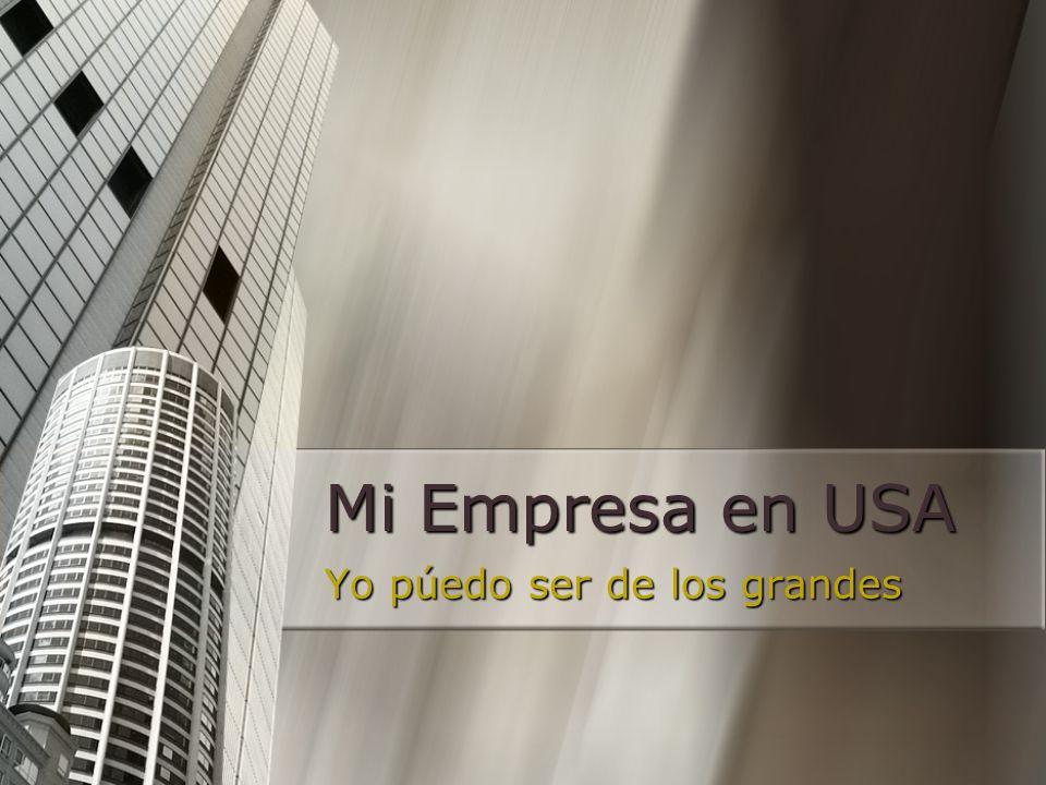 TODO AQUEL EMPRESARIO QUE QUIERE TRIUNFAR EN EL MERCADO MAS GRANDE DEL MUNDO Dirigido a: