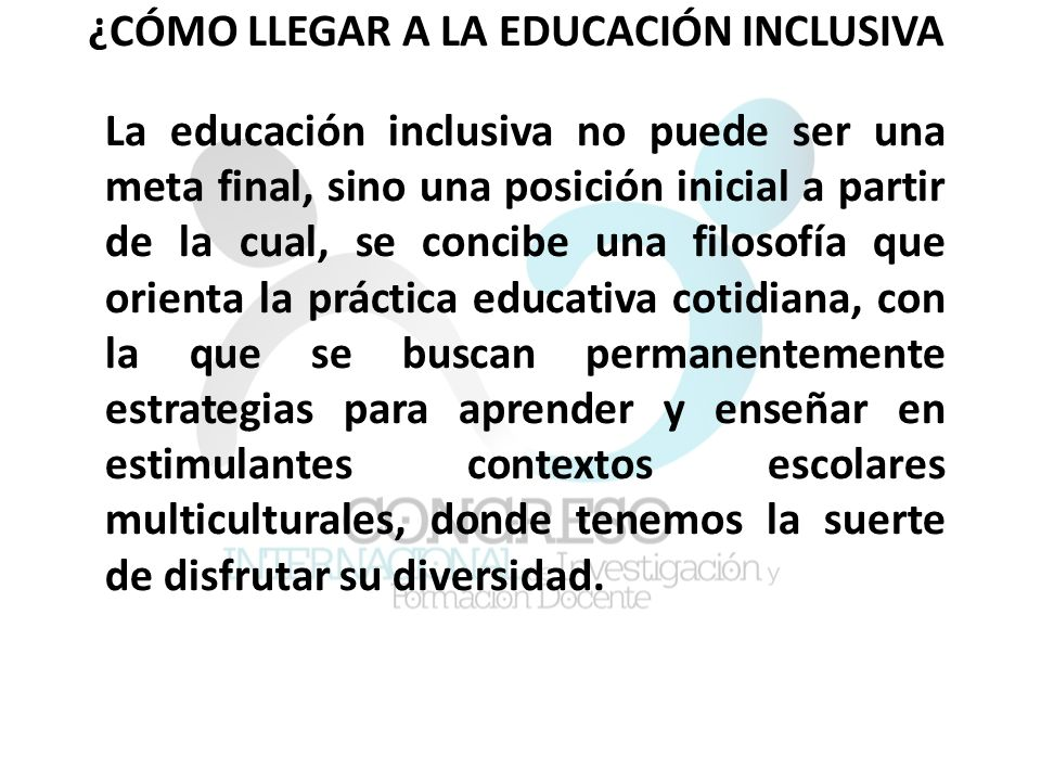 La construcción simbólica de los actores Los que saben de educación inclusiva y actúan convencidos en esa filosofía.
