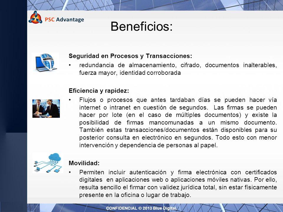 Soluciones de Firma y Factura Electrónica Firma Electrónica Firma Autógrafa Somos especialistas en migrar a procesos sin papel CONFIDENCIAL © 2013 Blu