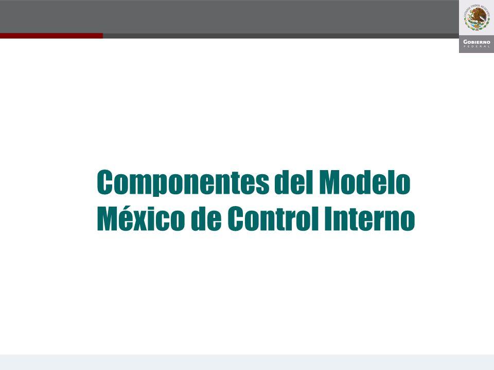 Componentes del Modelo México de Control Interno