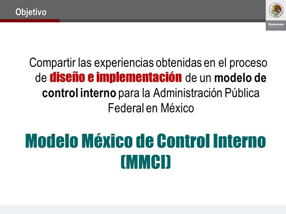 Objetivo Compartir las experiencias obtenidas en el proceso de diseño e implementación de un modelo de control interno para la Administración Pública