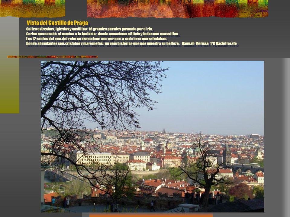 Vista del Castillo de Praga Calles estrechas, iglesias y castillos; 18 grandes puentes pasando por el río. Carlos nos enseñó, el camino a la fantasía;