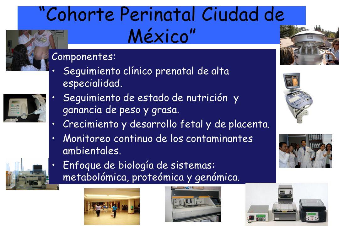 Cohorte Perinatal Ciudad de México Componentes: Seguimiento clínico prenatal de alta especialidad. Seguimiento de estado de nutrición y ganancia de pe