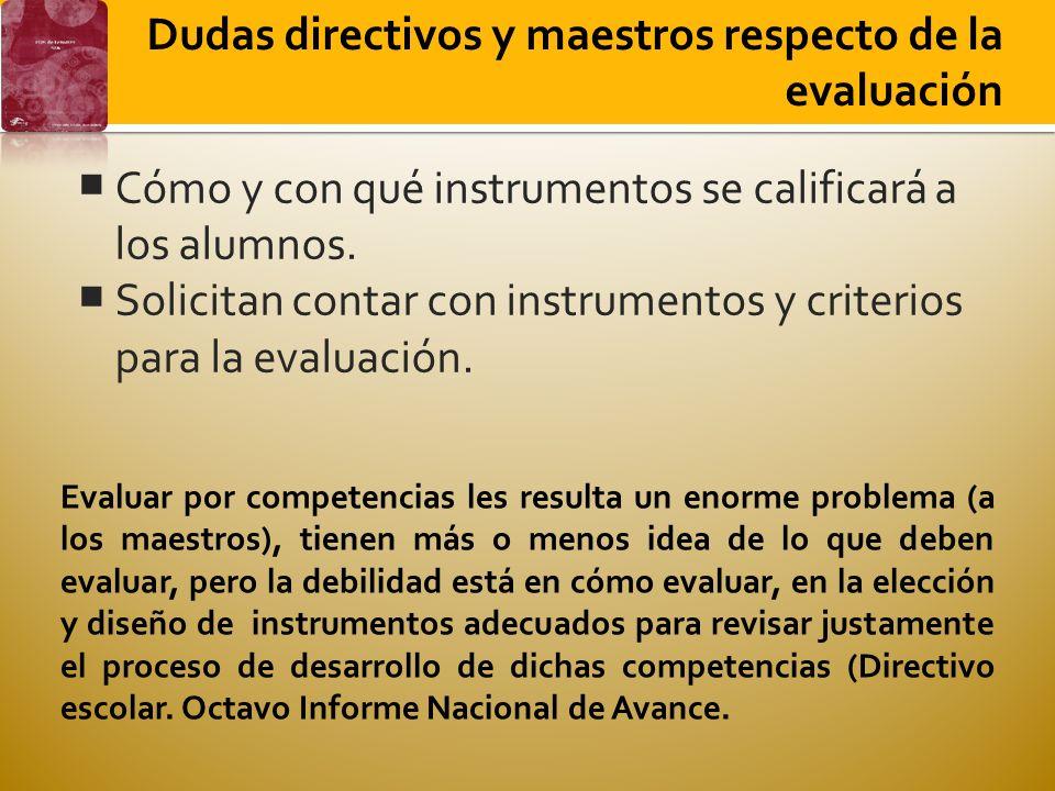 Cómo y con qué instrumentos se calificará a los alumnos. Solicitan contar con instrumentos y criterios para la evaluación. Dudas directivos y maestros