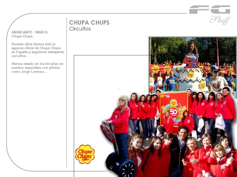ANUNCIANTE / MARCA Chupa Chups Durante años hemos sido la agencia oficial de Chupa Chups en España y seguimos trabajando con ellos. Hemos estado en lo