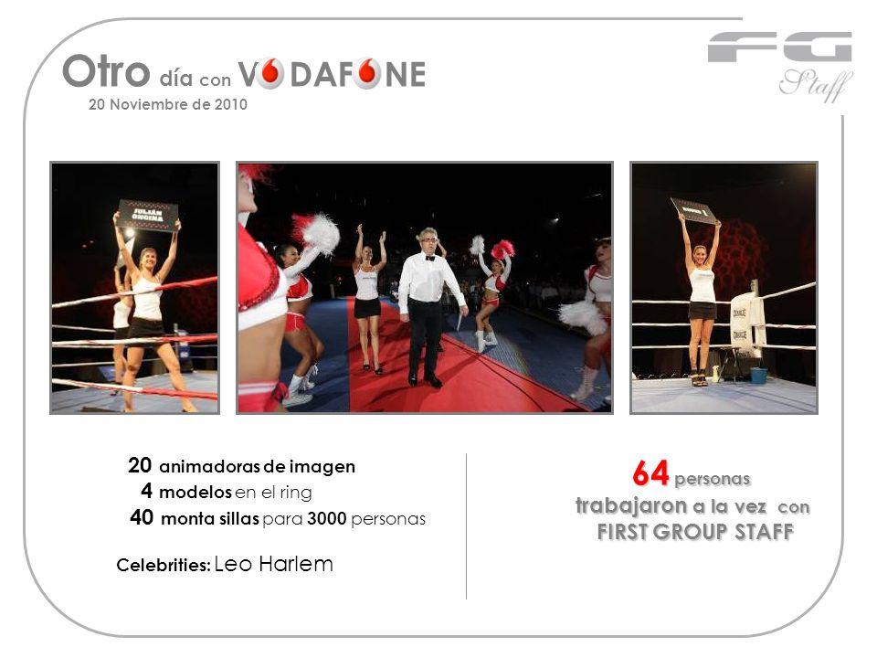 Otro día con V DAF NE 20 Noviembre de 2010 20 animadoras de imagen 4 modelos en el ring 40 monta sillas para 3000 personas Celebrities: Leo Harlem 64