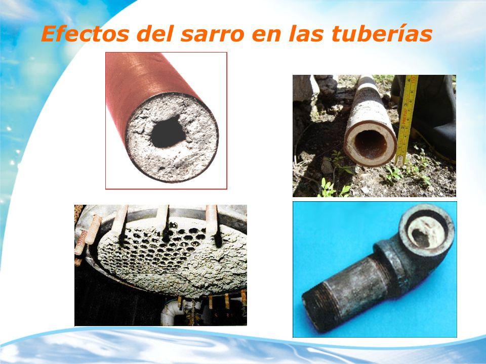 Efectos del sarro en las tuberías