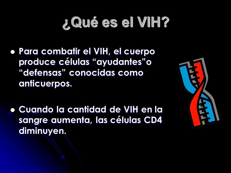 ¿Qué es el VIH? El VIH (Virus de Inmunodeficiencia Humana) es el que ocasiona el SIDA. El VIH (Virus de Inmunodeficiencia Humana) es el que ocasiona e