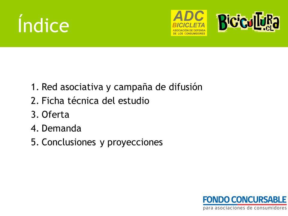Índice 1.Red asociativa y campaña de difusión 2.Ficha técnica del estudio 3.Oferta 4.Demanda 5.Conclusiones y proyecciones