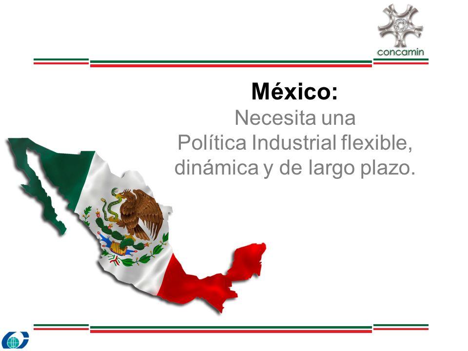 México: Necesita una Política Industrial flexible, dinámica y de largo plazo.