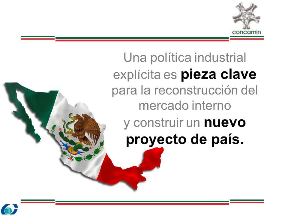 Una política industrial explícita es pieza clave para la reconstrucción del mercado interno y construir un nuevo proyecto de país.