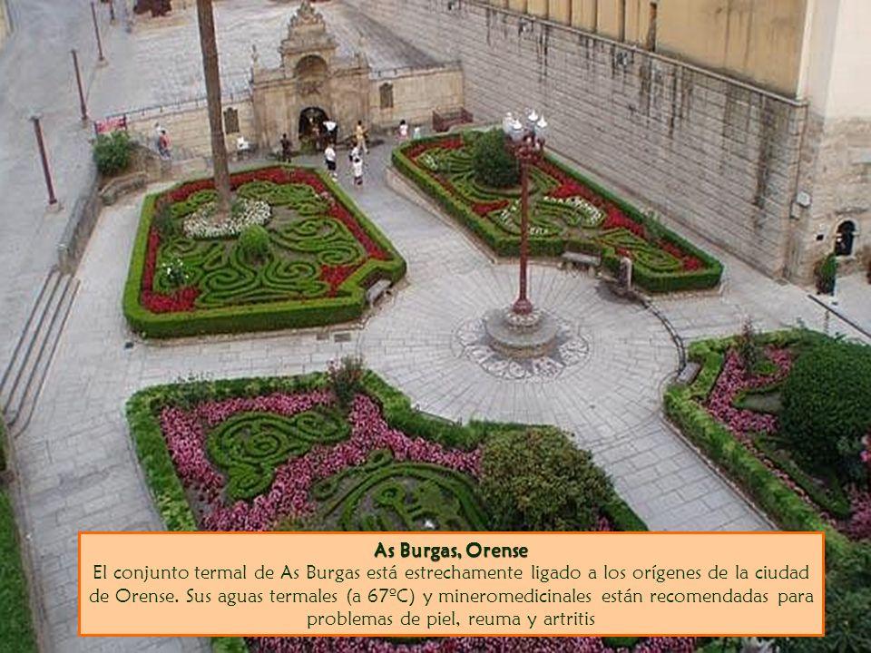 As Burgas, Orense As Burgas, Orense El conjunto termal de As Burgas está estrechamente ligado a los orígenes de la ciudad de Orense. Sus aguas termale