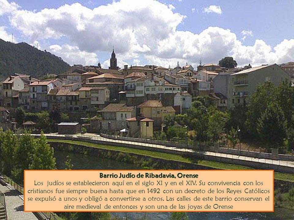 Barrio Judío de Ribadavia, Orense Barrio Judío de Ribadavia, Orense Los judíos se establecieron aquí en el siglo XI y en el XIV. Su convivencia con lo