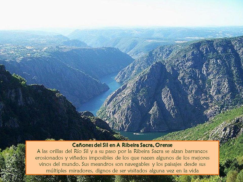 Cañones del Sil en A Ribeira Sacra, Orense Cañones del Sil en A Ribeira Sacra, Orense A las orillas del Río Sil y a su paso por la Ribeira Sacra se al