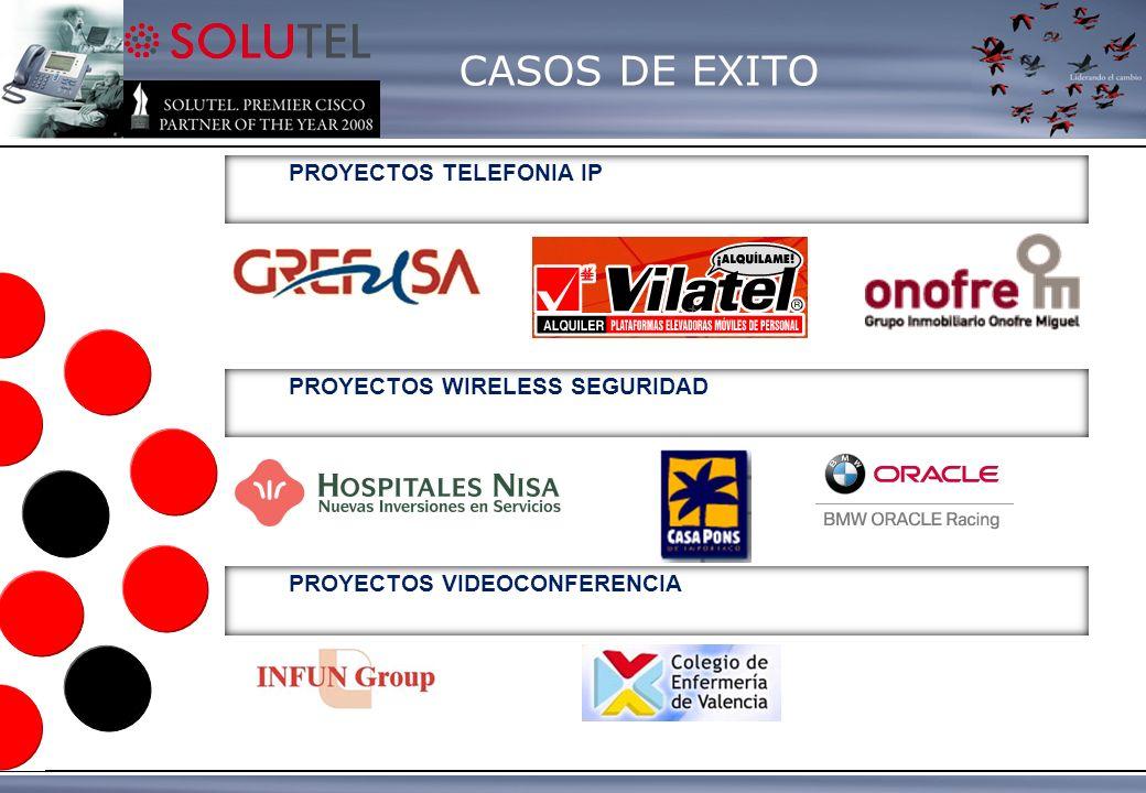 CASOS DE EXITO PROYECTOS TELEFONIA IP PROYECTOS WIRELESS SEGURIDAD PROYECTOS VIDEOCONFERENCIA