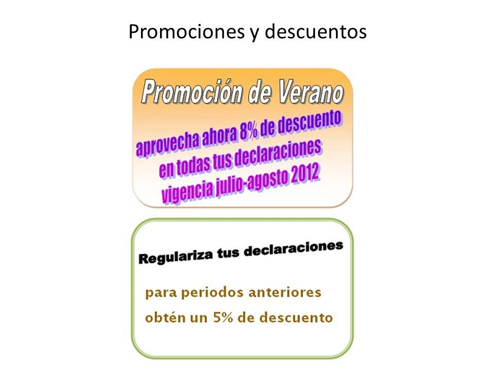 Promociones y descuentos
