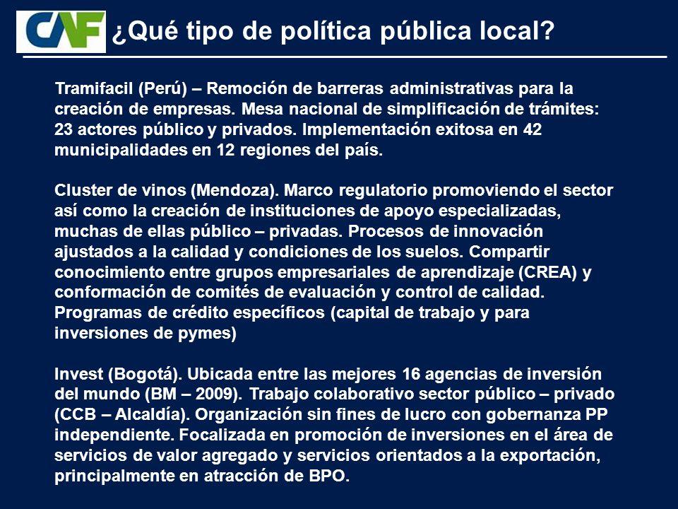 Tramifacil (Perú) – Remoción de barreras administrativas para la creación de empresas.