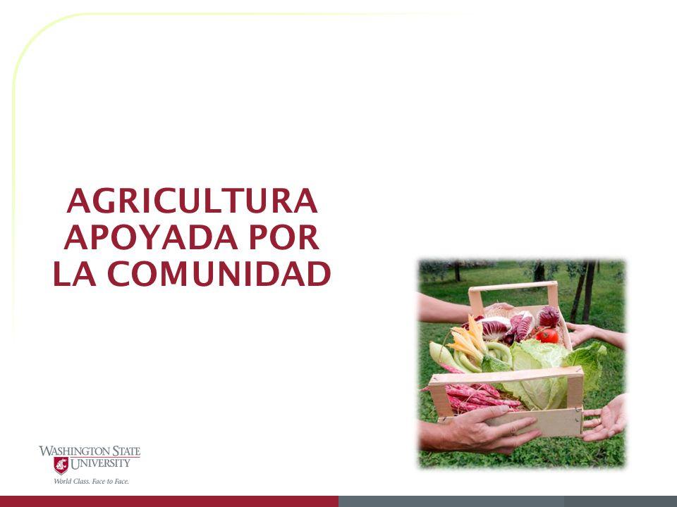 AGRICULTURA APOYADA POR LA COMUNIDAD