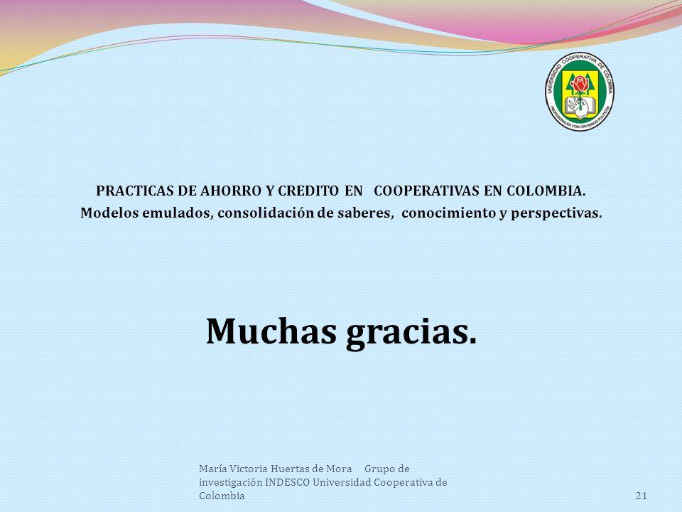 PRACTICAS DE AHORRO Y CREDITO EN COOPERATIVAS EN COLOMBIA.
