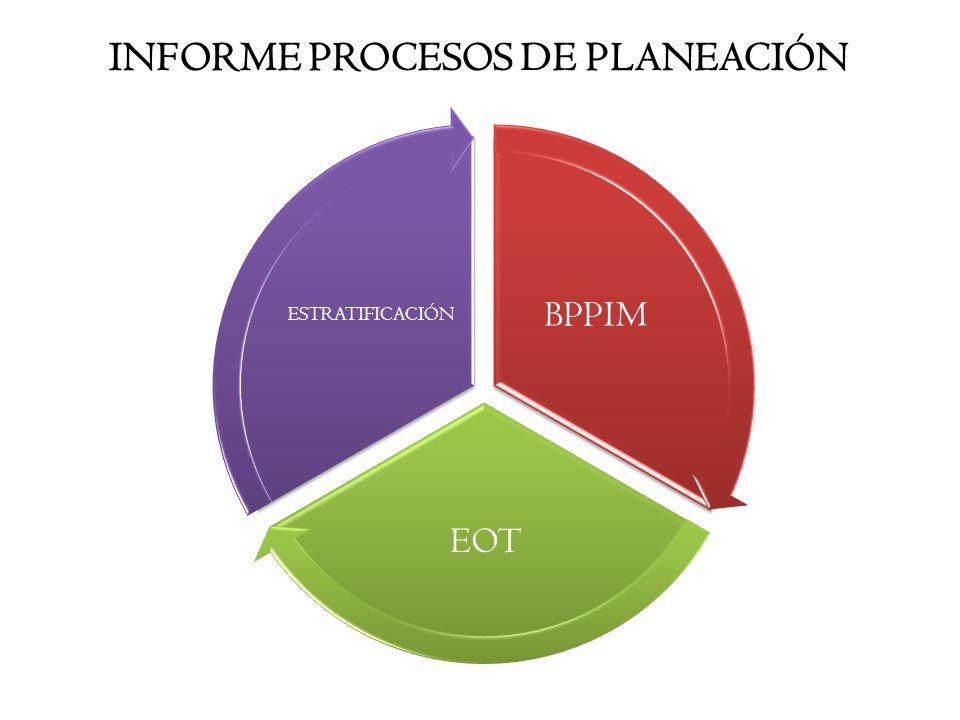 INFORME PROCESOS DE PLANEACIÓN BPPIM EOT ESTRATIFICACIÓN