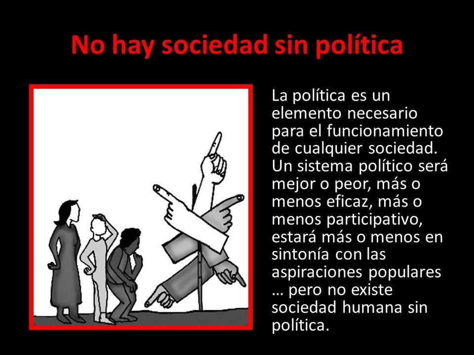 No hay sociedad sin política (2) ¿Qué es la política.