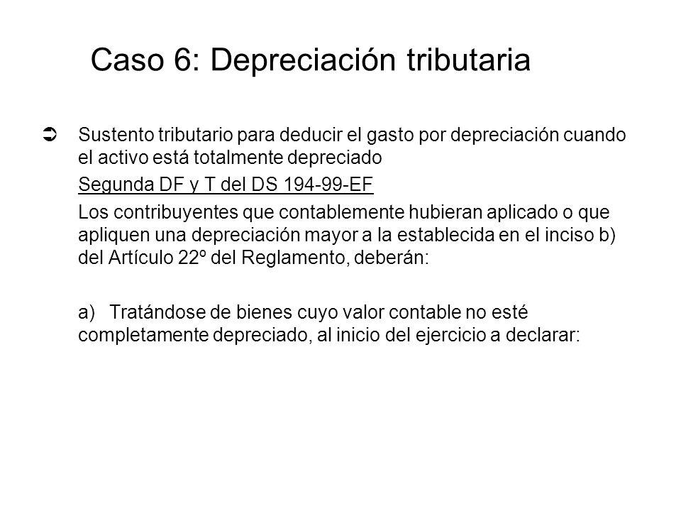 Sustento tributario para deducir el gasto por depreciación cuando el activo está totalmente depreciado Segunda DF y T del DS 194-99-EF Los contribuyen
