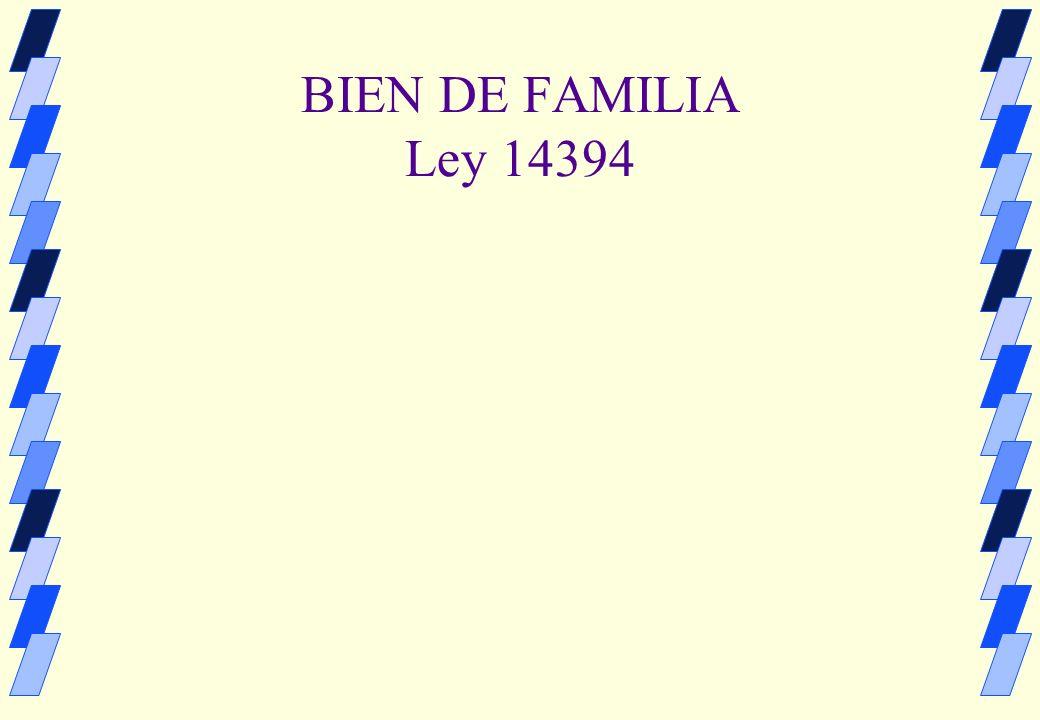 Subrogación real del bien de familia necesidad de reforma No esta prevista en al ley 14394 Art.