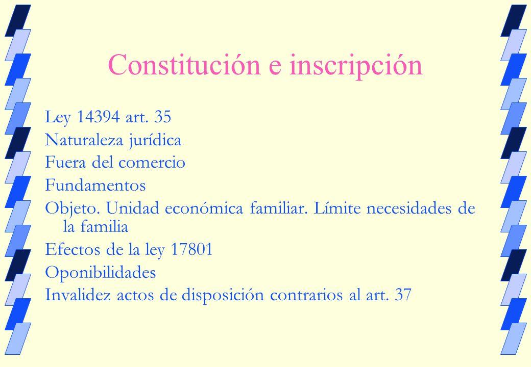 BIEN DE FAMILIA Ley 14394