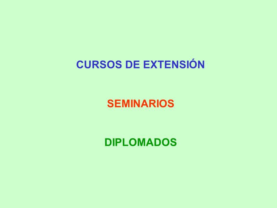 CURSOS DE EXTENSIÓN SEMINARIOS DIPLOMADOS