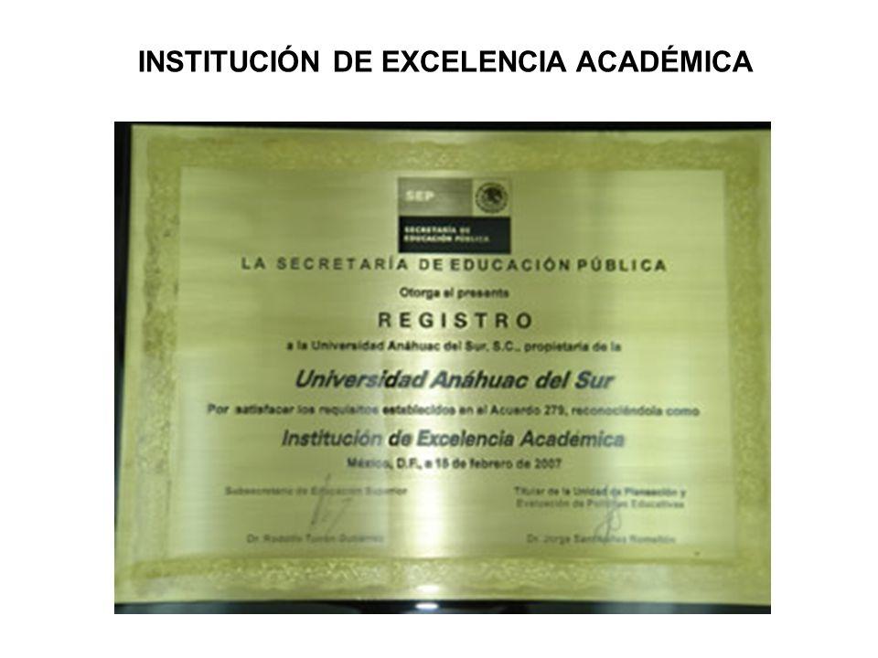 INSTITUCIÓN DE EXCELENCIA ACADÉMICA