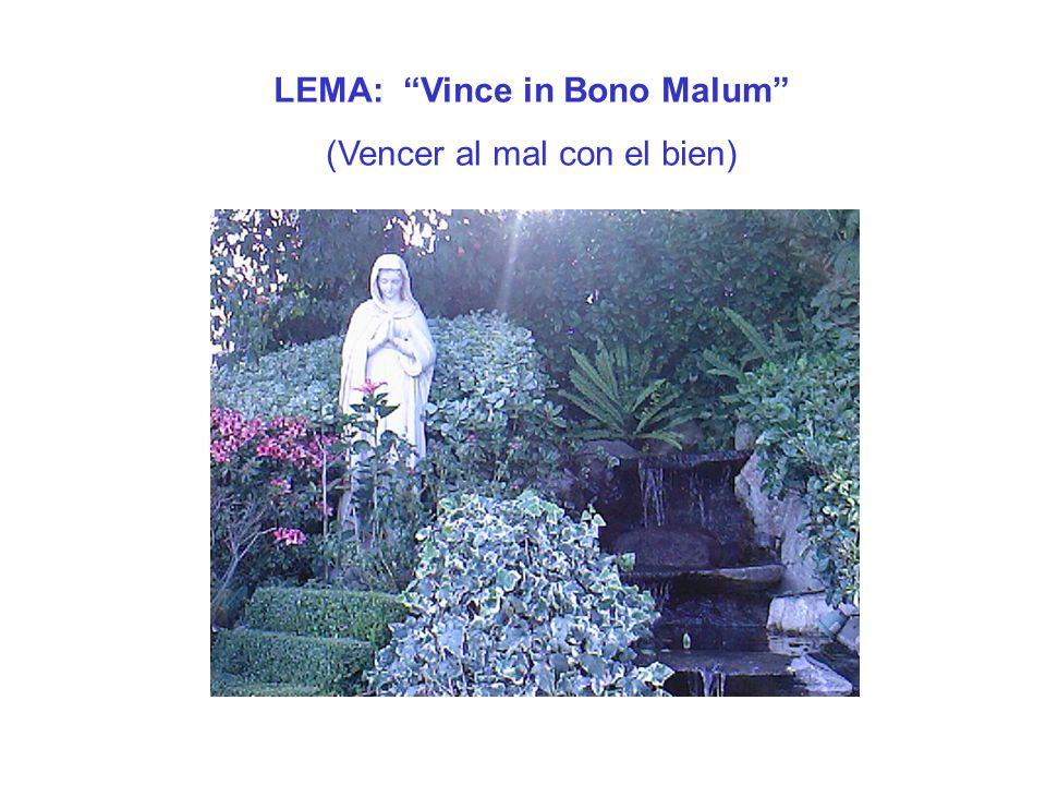 LEMA: Vince in Bono Malum (Vencer al mal con el bien)