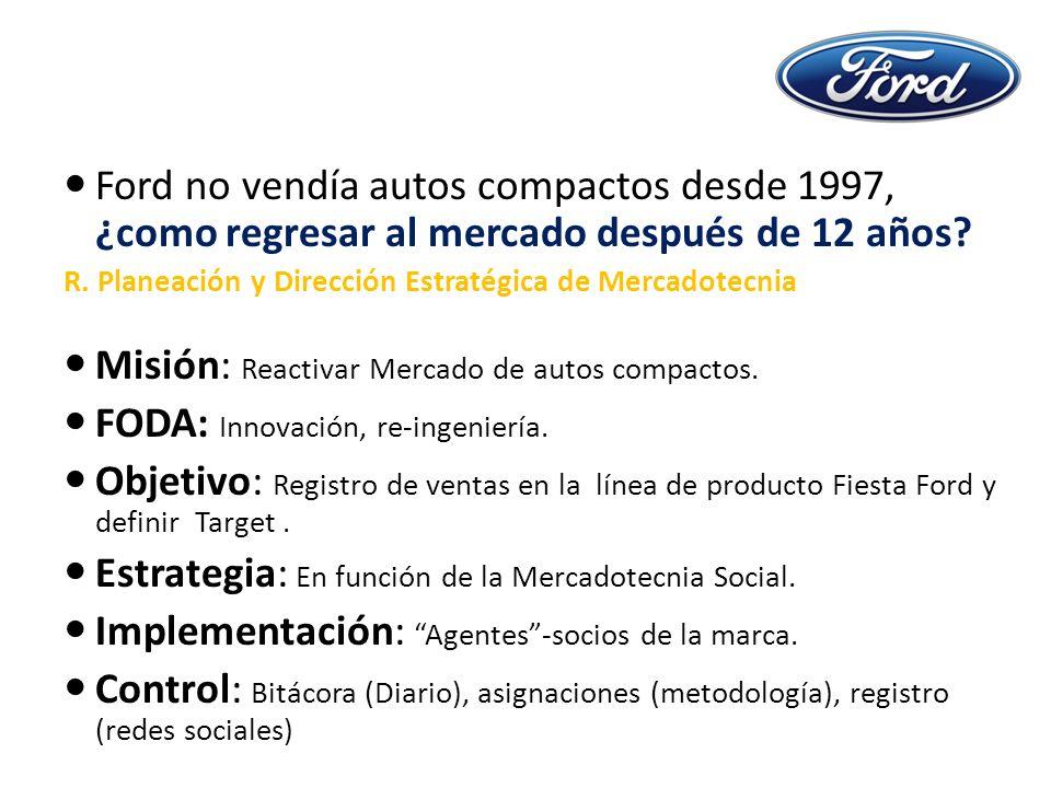 Ford no vendía autos compactos desde 1997, ¿como regresar al mercado después de 12 años.