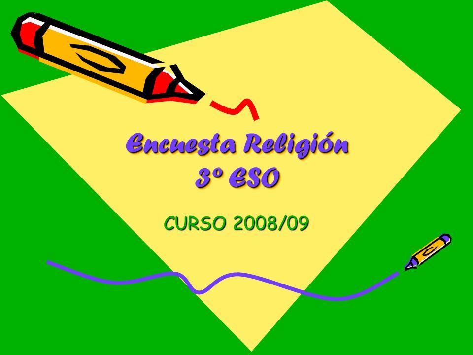Encuesta Religión 3º ESO CURSO 2008/09