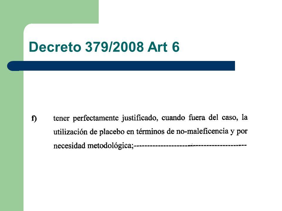 Decreto 379/2008 Art 6