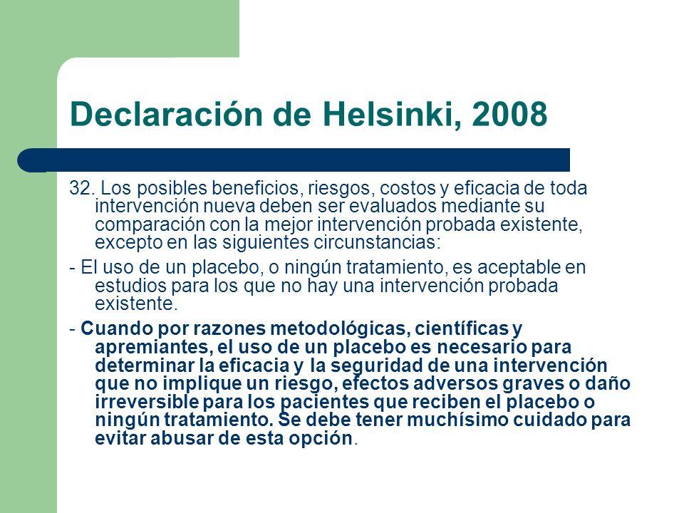 Declaración de Helsinki, 2008 32.