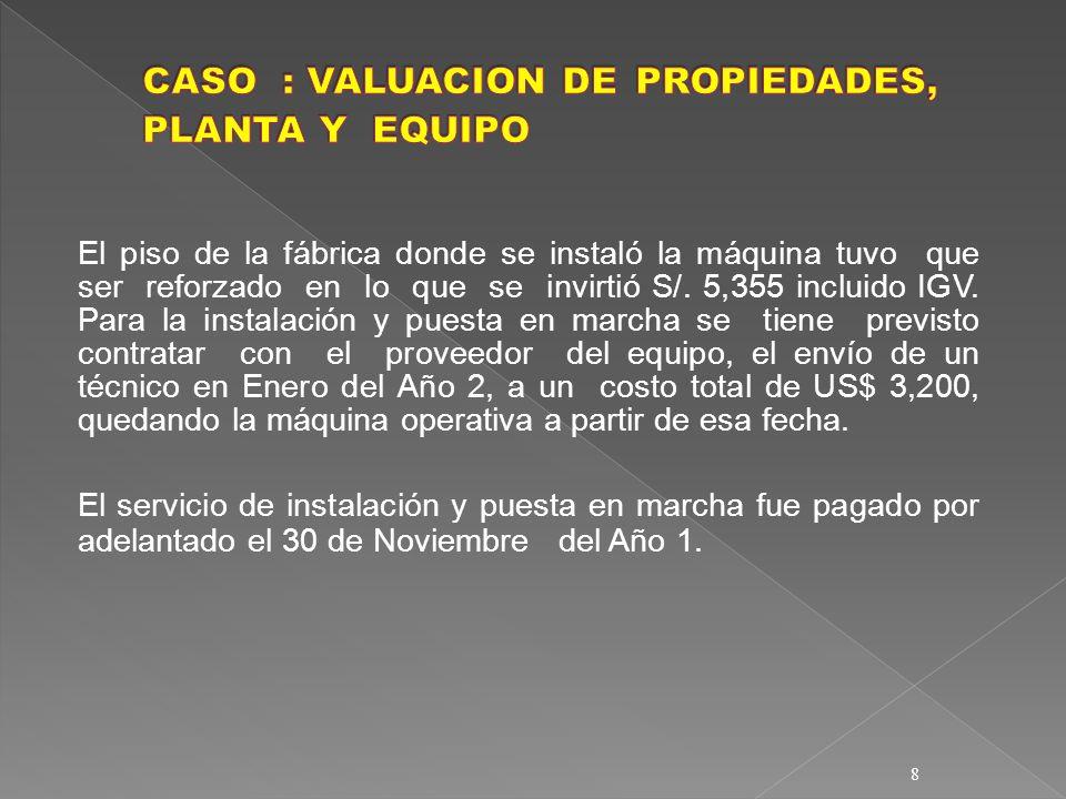 29 SOLUCION a) Procedimiento de reajuste proporcional de la depreciación : Valores PorcentajeValores Diferencia Antes de de después de por RevaluaciónComposiciónRevaluación Registrar S/.