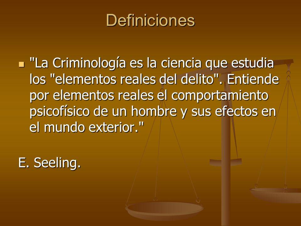 - La Criminología es la ciencia que estudia la delincuencia, para investigar sus causas, su génesis, su proceso y sus consecuencias. - La Criminología es la ciencia que estudia la delincuencia, para investigar sus causas, su génesis, su proceso y sus consecuencias. G.