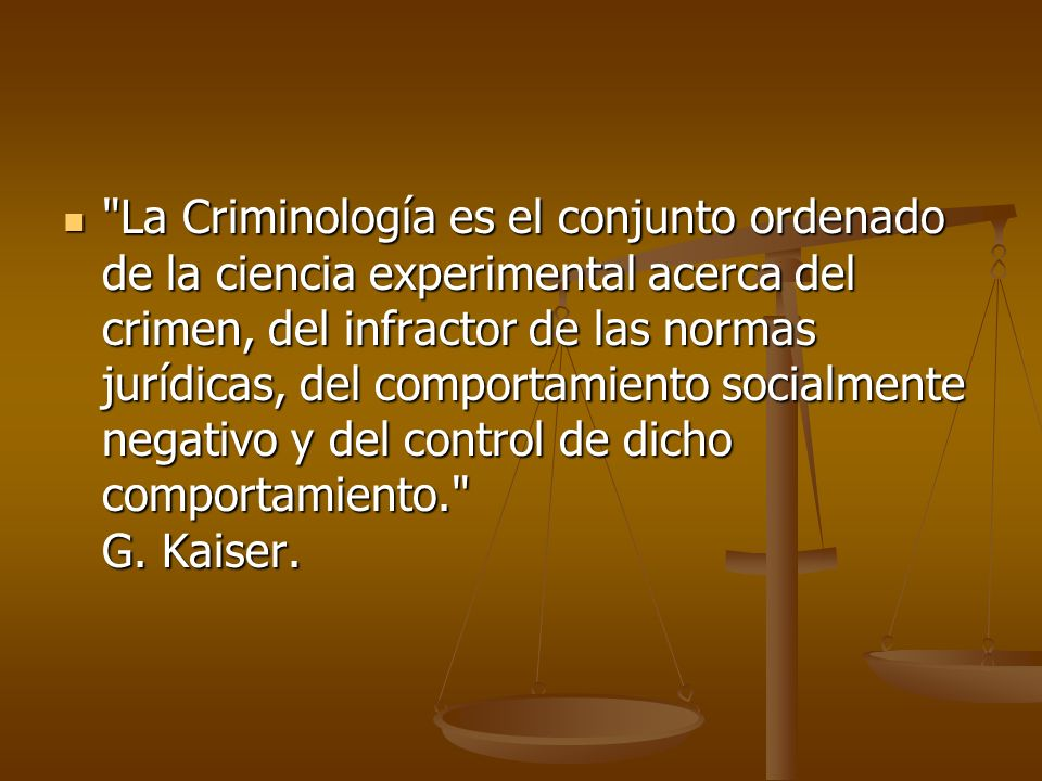 Criminología como Ciencia La criminología no es ciencia, ya que todo fenómeno estudiado como ciencia puede ser confirmado y comprobado.