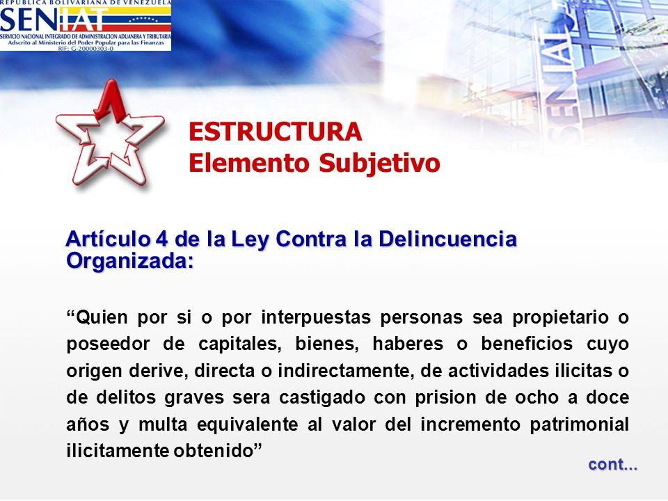 Artículo 4 de la Ley Contra la Delincuencia Organizada: Artículo 4 de la Ley Contra la Delincuencia Organizada: Quien por si o por interpuestas person