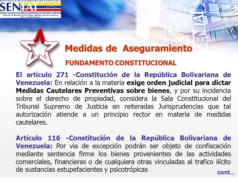 FUNDAMENTO CONSTITUCIONAL FUNDAMENTO CONSTITUCIONAL El artículo 271 -Constitución de la República Bolivariana de Venezuela: En relación a la materia e