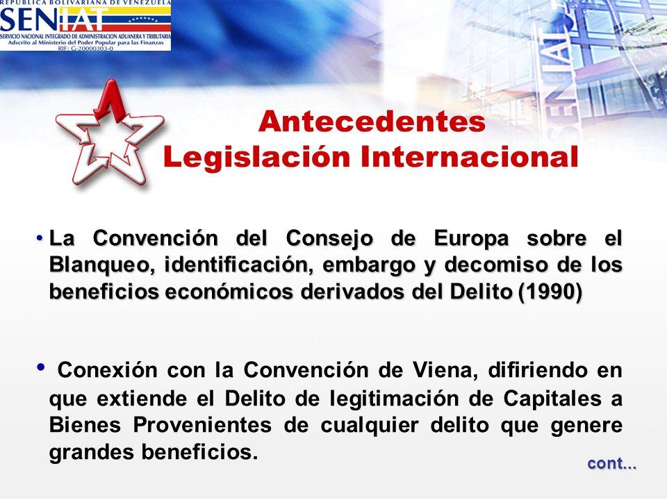 La Convención del Consejo de Europa sobre el Blanqueo, identificación, embargo y decomiso de los beneficios económicos derivados del Delito (1990)La C
