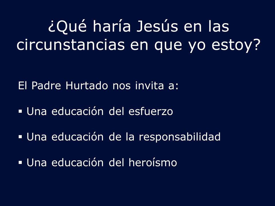 ¿Qué haría Jesús en las circunstancias en que yo estoy.